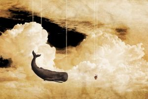 the hitchhiker's guide to the galaxy whale animals clouds petunias