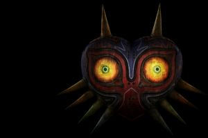 the legend of zelda video games black background the legend of zelda: majora's mask nintendo video game art simple