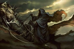the lord of the rings artwork witchking of angmar painting fantasy art creature nazgûl