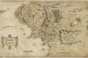 the lord of the rings cartography middle-earth map j. r. r. tolkien