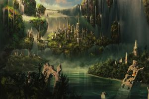 the lord of the rings fantasy city fantasy art