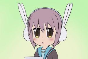 the melancholy of haruhi suzumiya anime chibi nagato yuki