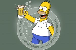 the simpsons homer simpson simple background typography humor beer