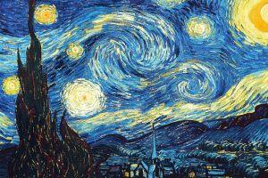 the starry night artwork classic art vincent van gogh