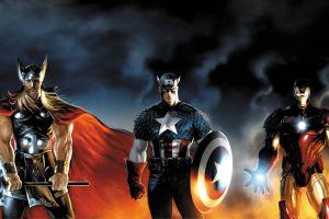 thor comics captain america iron man