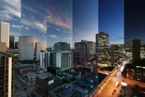 time cityscape spectrum building