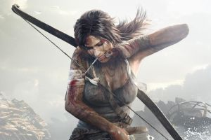 tomb raider video games artwork bow lara croft lara croft lara croft blood tomb raider tomb raider