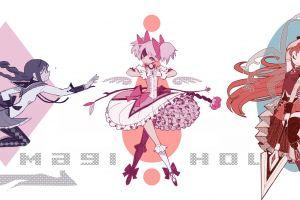 tomoe mami collage mahou shoujo madoka magica akemi homura anime girls kaname madoka anime miki sayaka