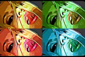 tongues artwork women collage