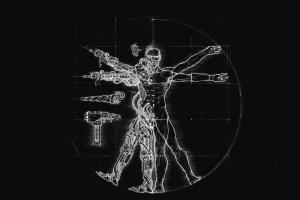 tools cyborg vitruvian man artwork diagrams warhammer 40,000