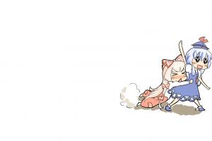 touhou white background anime anime girls video games fujiwara no mokou