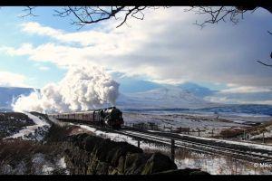 train landscape steam locomotive