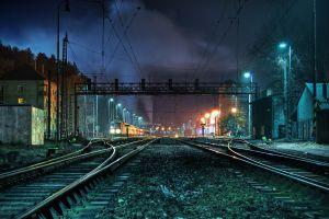 train station train vehicle railway night railway station