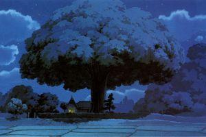 trees anime fantasy art my neighbor totoro studio ghibli