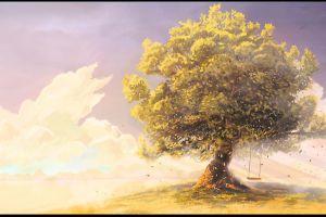 trees artwork painting