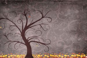 trees leaves artwork