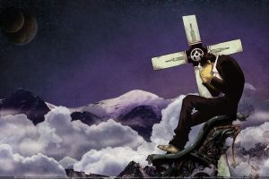 trigun nicholas d. wolfwood anime futuristic machine gun