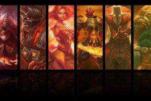 triple screen dota 2 video games collage