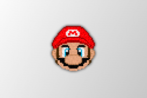 trixel video games simple background super mario pixel art pixels