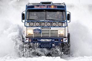 trucks kamaz car snow truck vehicle