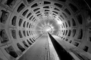 tunnel underground lights