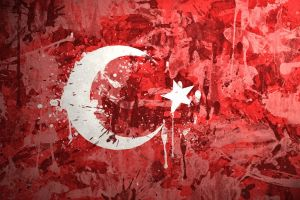 turkey flag red artwork