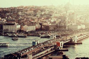 turkey river cityscape building istanbul bridge