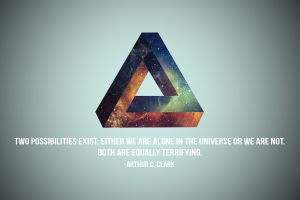 typo triangle quote penrose triangle optical illusion