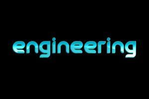 typography black text black background engineering blue digital art