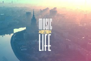 typography building cityscape river landscape music filter music is life sunlight moscow architecture