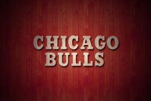 typography chicago bulls red background minimalism