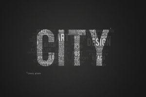 typography city minimalism