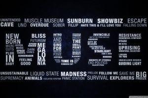 typography digital art music songs muse