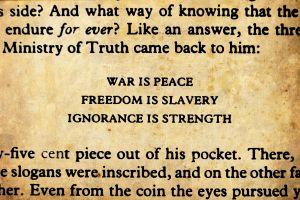 typography george orwell literature 1984 quote