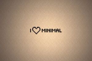 typography minimalism pattern heart