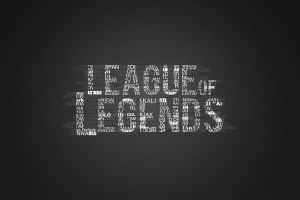 typography monochrome league of legends video games