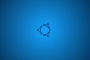 ubuntu symbols blue background minimalism