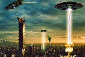 ufos destruction aliens digital art fantasy art