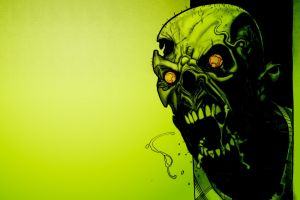 undead zombies green artwork minimalism