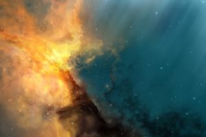 universe space nebula stars digital art space art