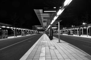 urban monochrome night