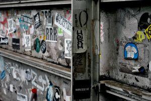 urban sticker bomb dirty japan tokyo graffiti