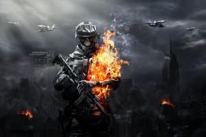 usa aircraft smoke skyscraper video games military destruction suppressors fire weapon war army dark battlefield battlefield 3