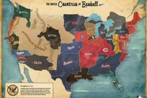 usa map sport  baseball