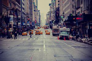 usa road new york city city cityscape