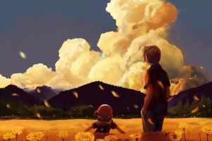 ushio okazaki sky anime okazaki tomoya clannad