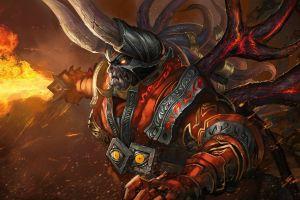 valve corporation doombringer hero defense of the ancient valve armor dota dota 2 fantasy art fire