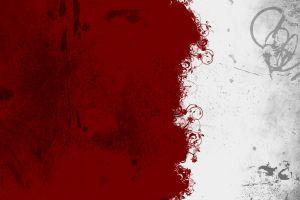 vector red digital art white