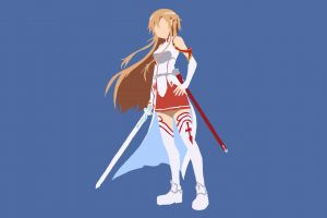 vector simple background yuuki asuna anime vectors anime girls sword art online