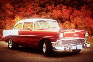 vehicle car bel-air chevrolet oldtimer red cars